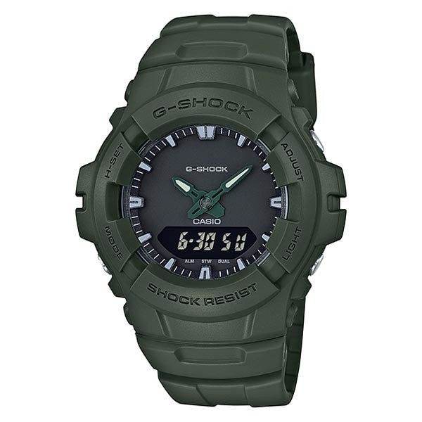 CASIO G-SHOCK ANALOG/ DIGITAL MEN G-100CU-3ARD