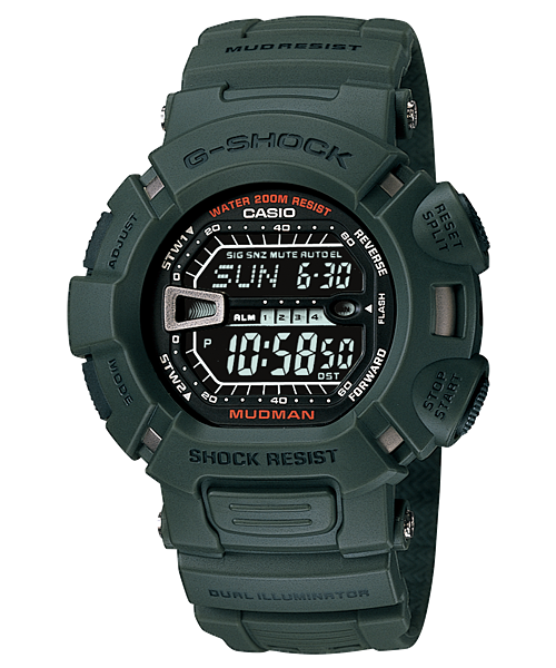 CASIO G-SHOCK DIGITAL MUDMAN MEN WATCH G-9000-3VDR