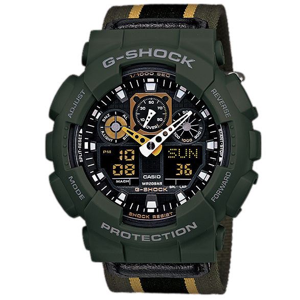CASIO G-SHOCK MENS WATCH GA-100MC-3ADR