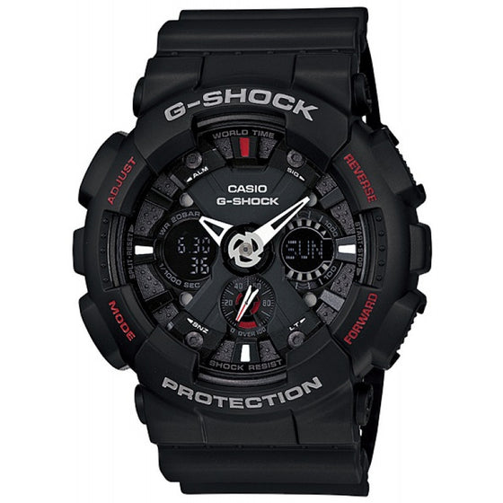 BUY CASIO G-SHOCKMENS BLACK MOTORCYCLE SPORTS MOTIF WATCH GA-120A-7AER