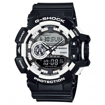 CASIO G-SHOCK MENS HYPER COLOUR SERIES BLACK/ WHITE WATCH GA-400-1ADR
