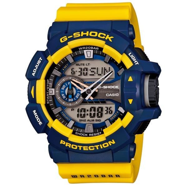 BUY CASIO G-SHOCK MENS BLACK SILVER WATCH GA-400-9BDR