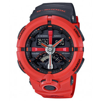 CASIO G-SHOCK MENS BIG COIL RED WATCH GA-500P-4ADR