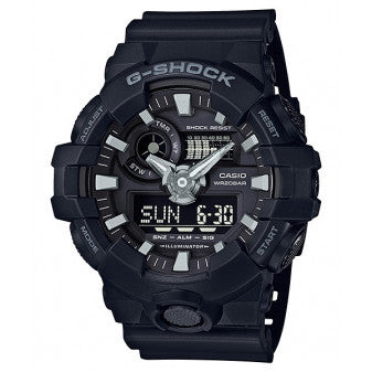 CASIO G-SHOCK MENS BLACK WATCH GA-700-1BDR