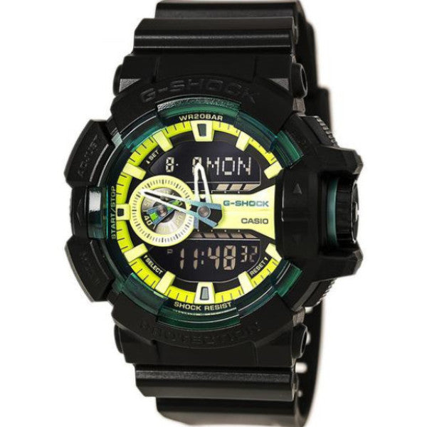 CASIO G-SHOCK ANALOGUE/ DIGITAL ROTARY GREEN GA-400LY-1AER