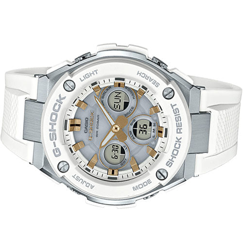 CASIO G-SHOCK ANALOG/ DIGITAL MEN WHITE GST-S300-7A