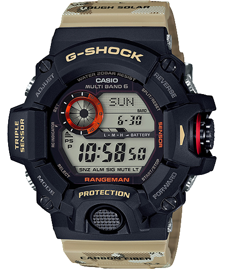 CASIO G-SHOCK DIGITAL RANGEMAN TRIPLE SENSOR MEN WATCH GW-9400DCJ-1DR