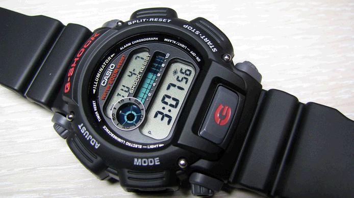 CASIO G-SHOCK DIGITAL MEN BLACK WATCH DW-9052-1VDR