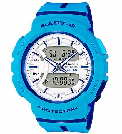 CASIO BABY-G ANALOGUE/ DIGITAL LADIES BLUE WATCH BGA-240L-2A2