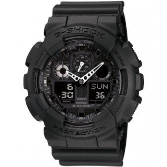 CASIO G-SHOCK MENS WATCH BLACK GA-100-1A1DR