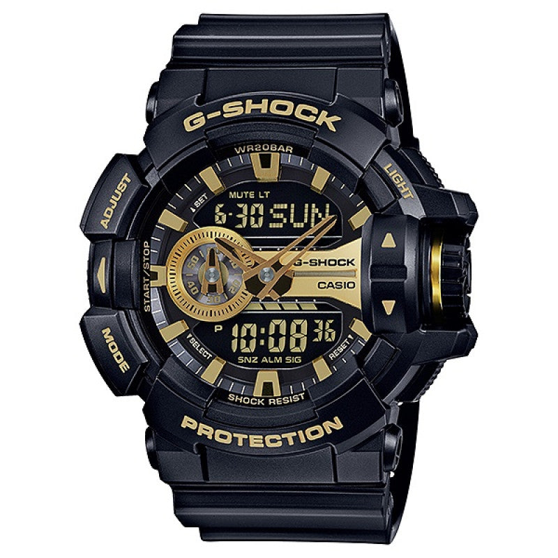 BUY CASIO G-SHOCK ANALOG/ DIGITAL MENS BLACK WATCH GA-400GB-1A9 Save