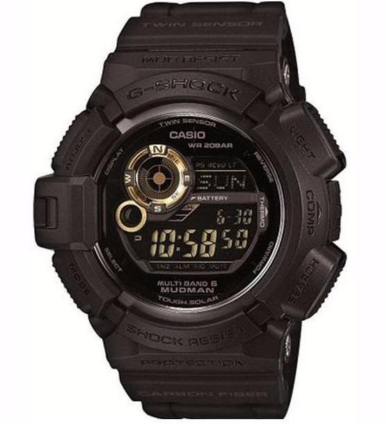 CASIO G-SHOCK DIGITAL MUDMASTER DIGITAL SOLAR MEN WATCH GOLD X BLACK G-9300GB-1