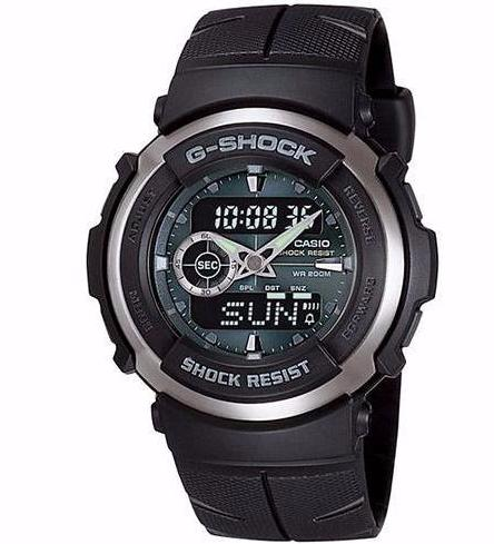 CASIO G-SHOCK ANALOGUE/ DIGITAL MENS WATCH G-300-3AVDR