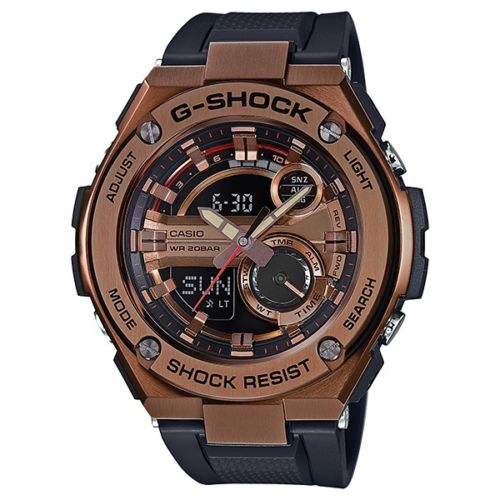 CASIO G-SHOCK G-STEEL GOLD FACE MEN WATCH GST210B-4