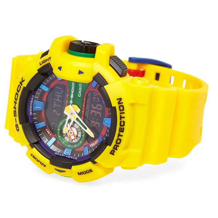 CASIO G-SHOCK MENS HYPER COLOUR SERIES WATCH GA-400-9ADR