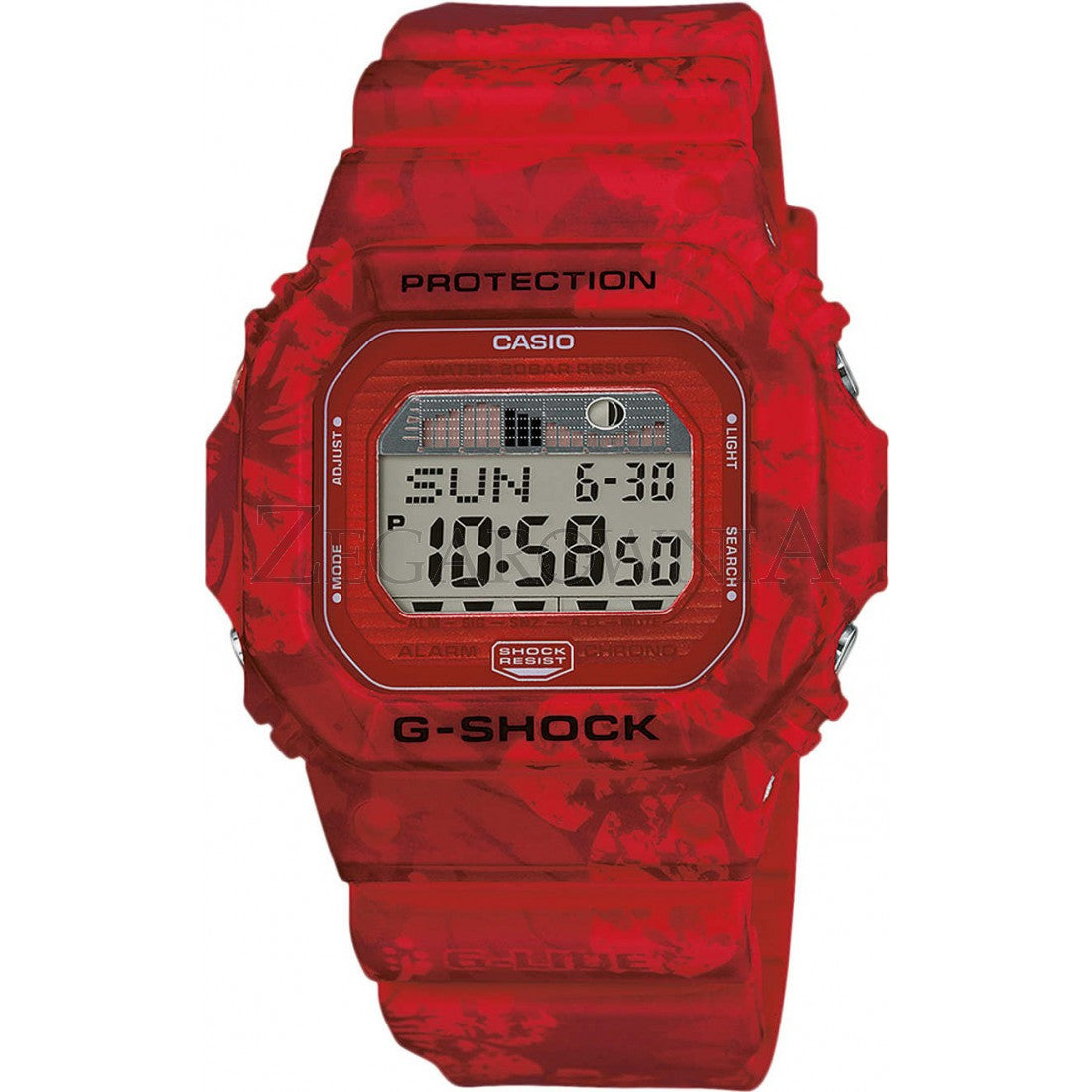 Casio G Shock Tagged Standard Digital Timeteller Camouflage Gd 120cm 4dr Men Red Glx 5600f 4er