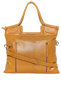brown leather work tote for women