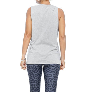 womens grey muscle tee