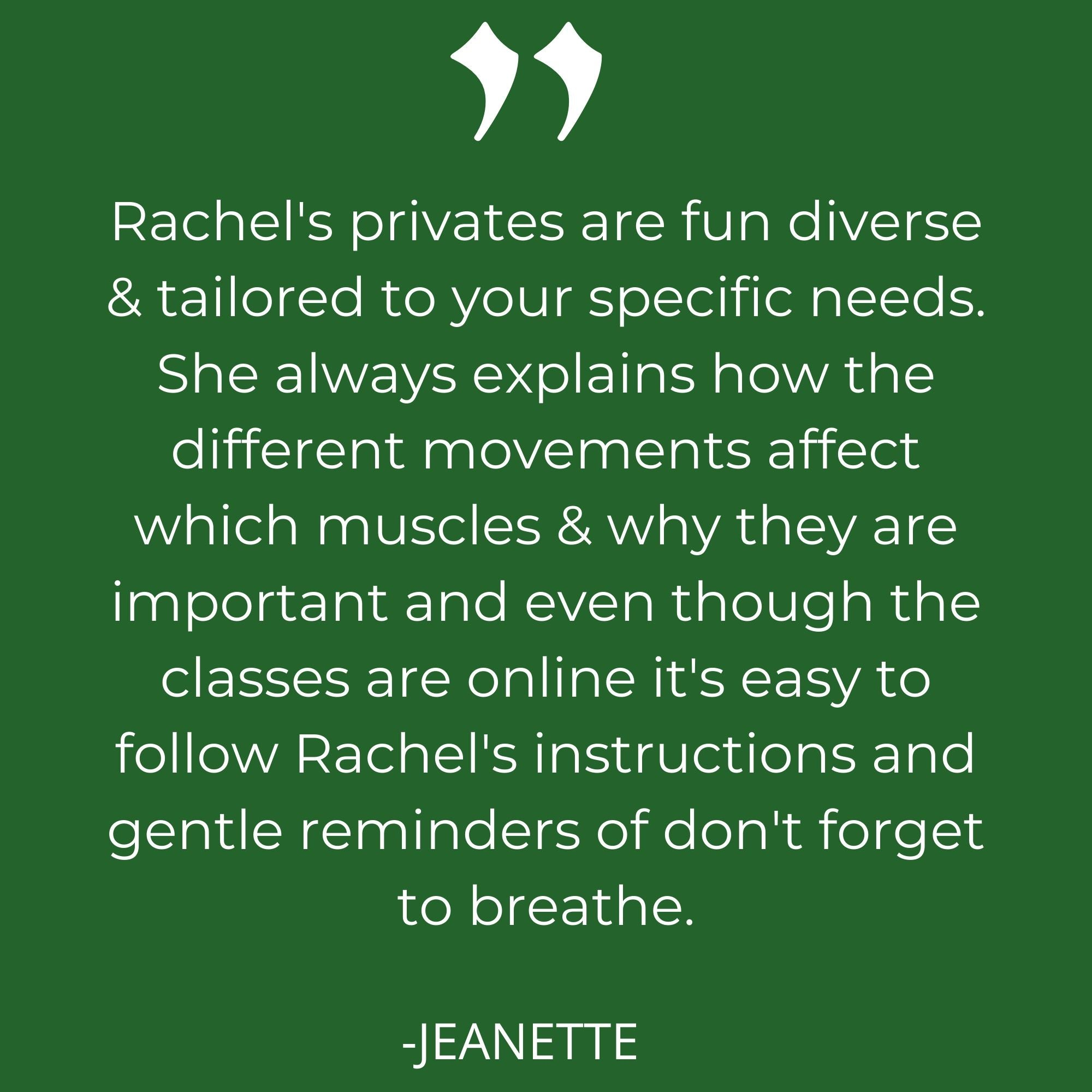 Private Pilates Session Online