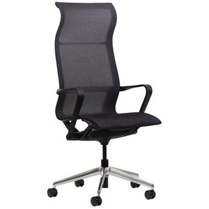 Air Mesh Chair - High Back-Office Chairs-Black-Unassembled-Commercial Traders - Office Furniture