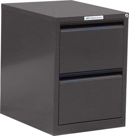 Classic 2 Drawer Filing Cabinet - Quickship-Filing Cabinets-Black-Commercial Traders - Office Furniture