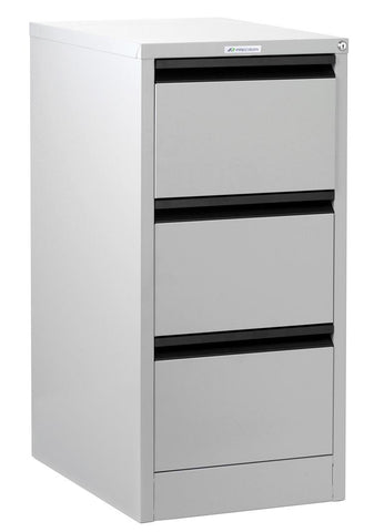Classic 3 Drawer Filing Cabinet - Quickship-Unclassified-Silver Comet-Commercial Traders - Office Furniture