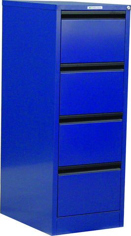 Classic 4 Drawer Filing Cabinet-Unclassified-Black-Commercial Traders - Office Furniture
