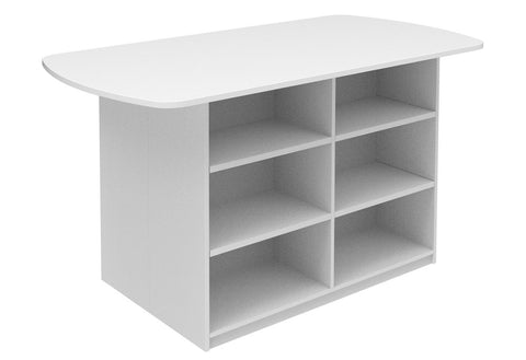 Mascot Leaner Storage Unit - Open Shelves-Office Storage-1800 mm-Commercial Traders - Office Furniture