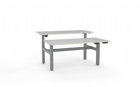 Agile Double Sided 1500 Electric Standing Desk - 2 Column-Office Desks-White-White-Commercial Traders - Office Furniture