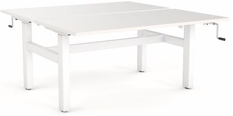 Agile Double Sided 1200 x 700 Winder Desk - commercial traders office furniture