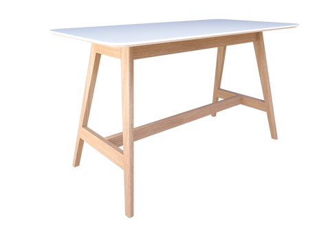 Oslo Bar Leaner - Melteca Top-Unclassified-1800 x 900-White-Auckland Delivery-Commercial Traders - Office Furniture