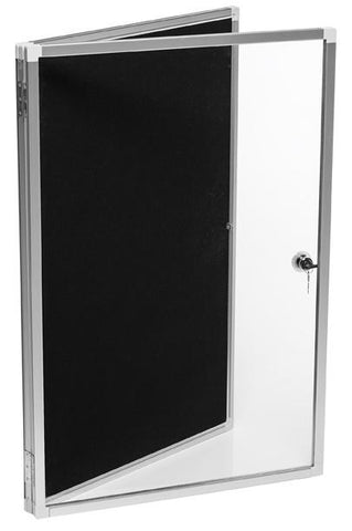 Lockable Noticeboard - 600 x 900-Noticeboards-Quantum-Portrait-Commercial Traders - Office Furniture