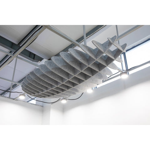 ACOUSTIC CEILING LATTICE - ELLIPSE-Noise Reduction-Grey-Commercial Traders - Office Furniture