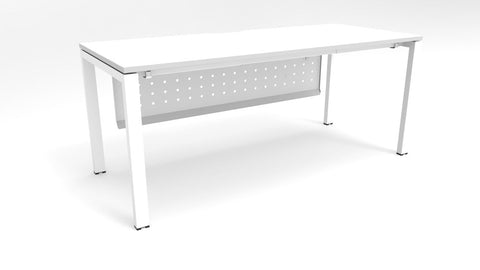 Alti 1800 x 750 Desk With Modesty Panel-Office Desks-White-White-Delivery to North Island-Commercial Traders - Office Furniture