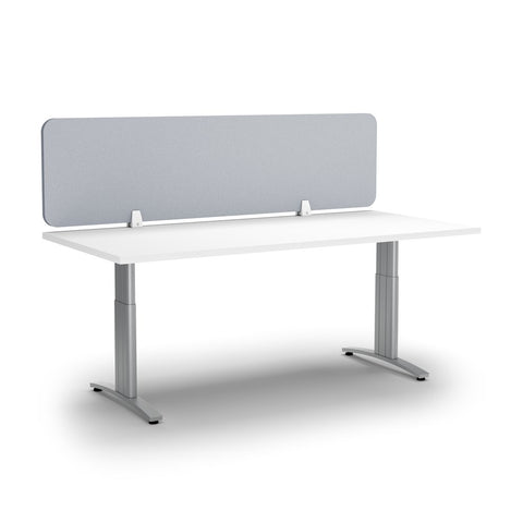 ACOUSTIC DESK SCREEN-Office Partitions-400 x 1200-Light Grey-Commercial Traders - Office Furniture