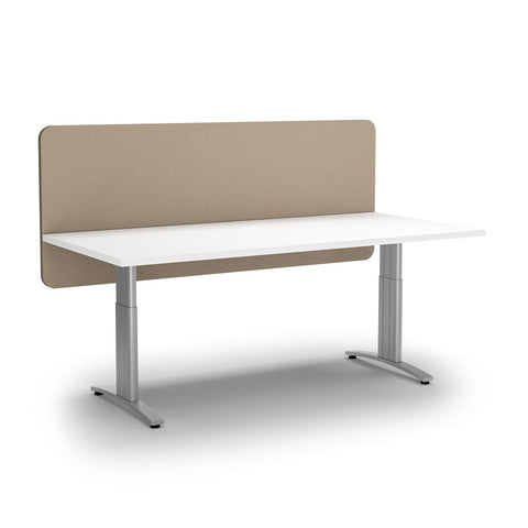 ACOUSTIC DESK SCREEN MODESTY PANEL-Office Partitions-600 x 1200-Dark Camel-Commercial Traders - Office Furniture