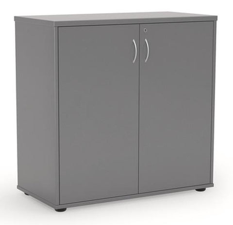 Ergoplan Cupboard 900H  x 900W- Silver - commercial traders office furniture