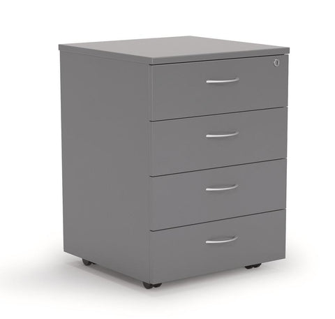 Ergoplan Mobile Locking 4 Drawer  - Arctic - commercial traders office furniture