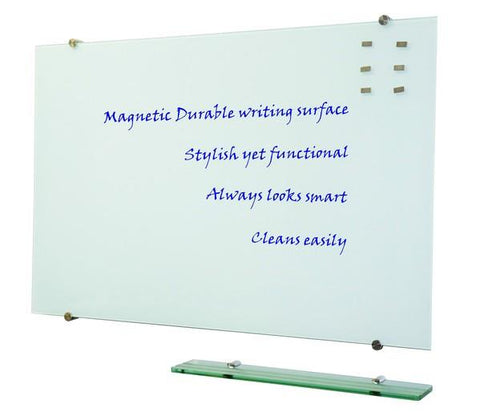 Prowrite Glass Writing Board - White 1000 x 2100 - commercial traders office furniture