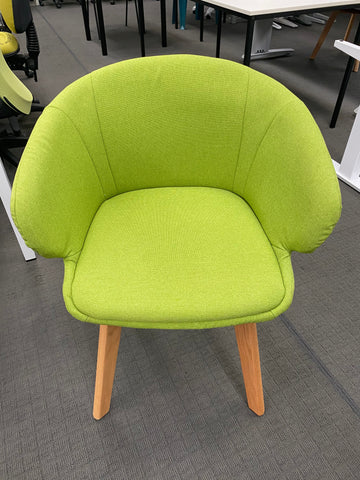 Green Tulipe Guest Chair - Seconds-Unclassified-Commercial Traders - Office Furniture