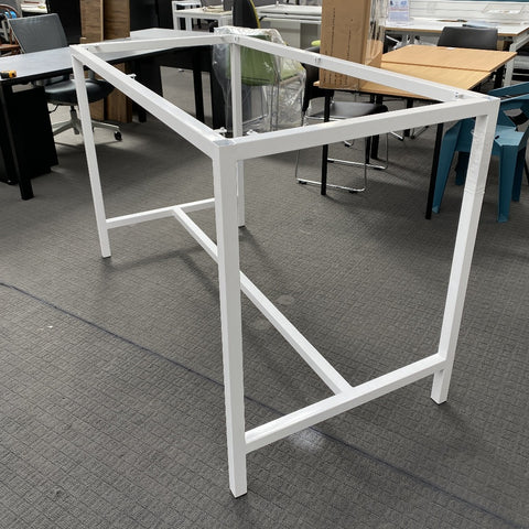 Spark - Bar Leaner 1600 x 800 - Frame Only - White-Unclassified-Commercial Traders - Office Furniture
