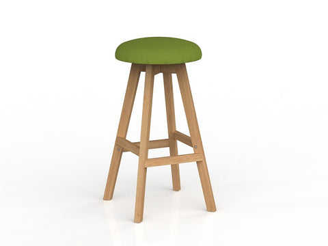 Luna Button Barstool -Oak Base-Unclassified-Splice-Commercial Traders - Office Furniture