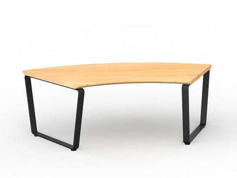 Motion Coffee Table Curved-Unclassified-White Lacqur-Commercial Traders - Office Furniture