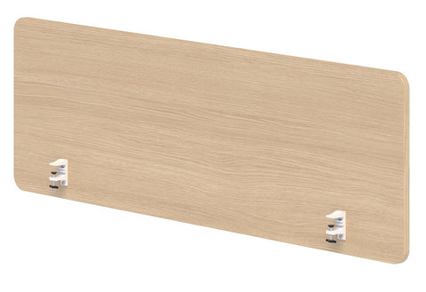 BOX Melteca Clamp on Screen - 480h-Unclassified-800 wide-Refined Oak-Commercial Traders - Office Furniture