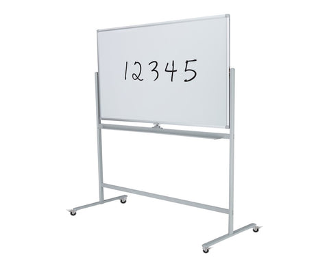Mobile Whiteboard - Value 1200 x 1200-Whiteboards-No Accessories Thanks-Commercial Traders - Office Furniture