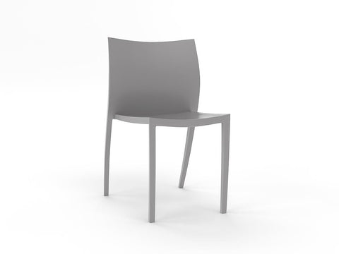 Poly Cafe Chair - CLEARANCE-Unclassified-Stone Grey-Commercial Traders - Office Furniture