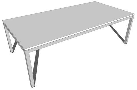 Essentials Meeting Table 2400 x 1200 - commercial traders office furniture