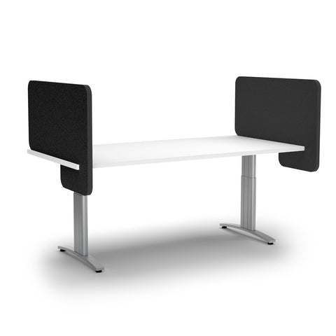 ACOUSTIC DESK DIVIDER-Acoustic-Black-Commercial Traders - Office Furniture