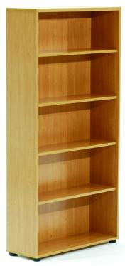Ergoplan Bookcase 1800H - Tawa - commercial traders office furniture