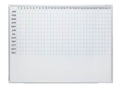 Year Planner - 1200 x 1800-Whiteboards-No Accessories Thanks-Commercial Traders - Office Furniture